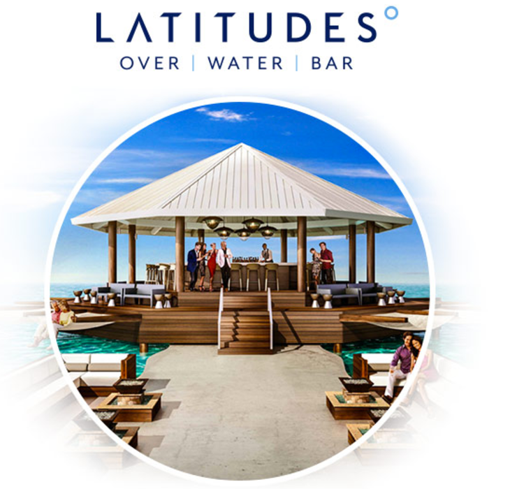 Latitudes Over Water Bar Sandals Resorts South Coast