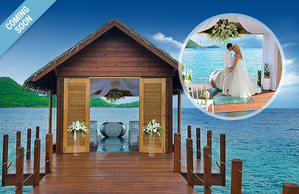 Sandals Grande St. Lucian Over Water Wedding Chapel