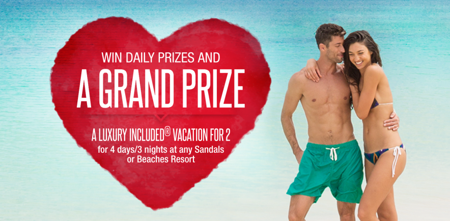 Sandals Resorts Tokens of Love Daily Giveaway