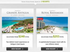 Sandals Vacation Planner Sandals Royal Bahamian & Sandals Grande Antigua