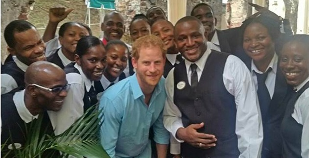 Prince Harry in St. Lucia - Hotel Resort