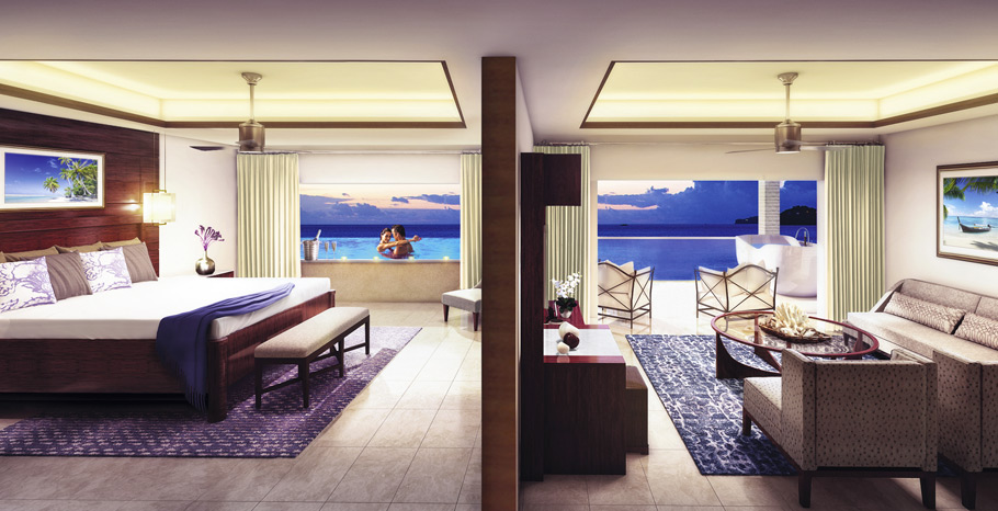 Sandals Skypool Suite Honeymoon Grenada Bedroom