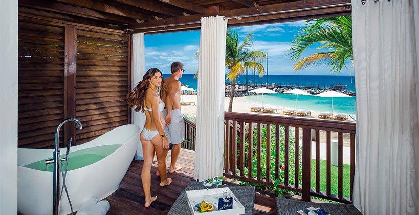 Walkout Beachfront Suite and Room LaSource Grenada