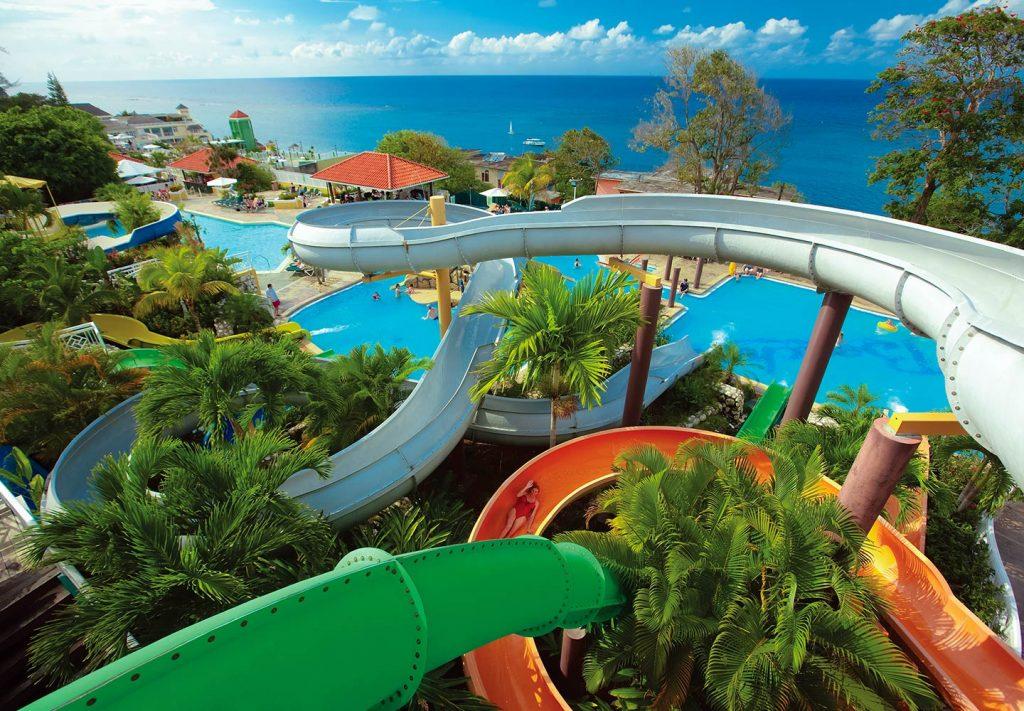 Slides at Beaches Ocho Rios Pirates Island Waterpark