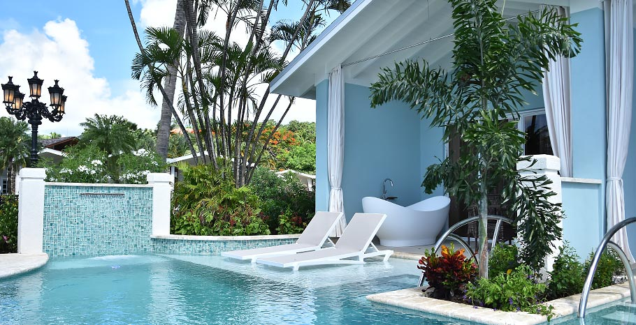 Sandals Halcyon Swim Up Suites St Lucia Pool