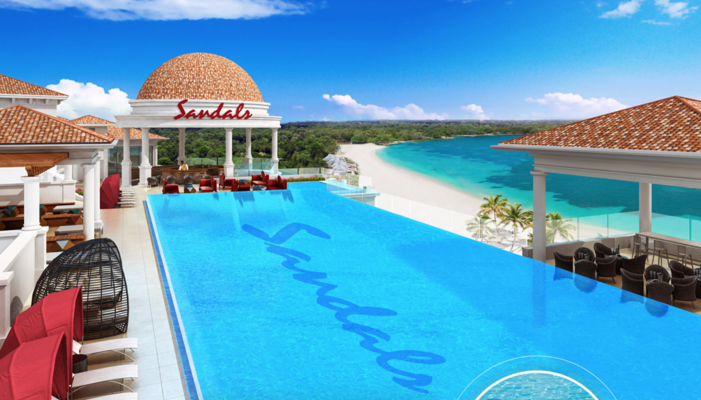 Sandals Royal Barbados Roof Top Pool