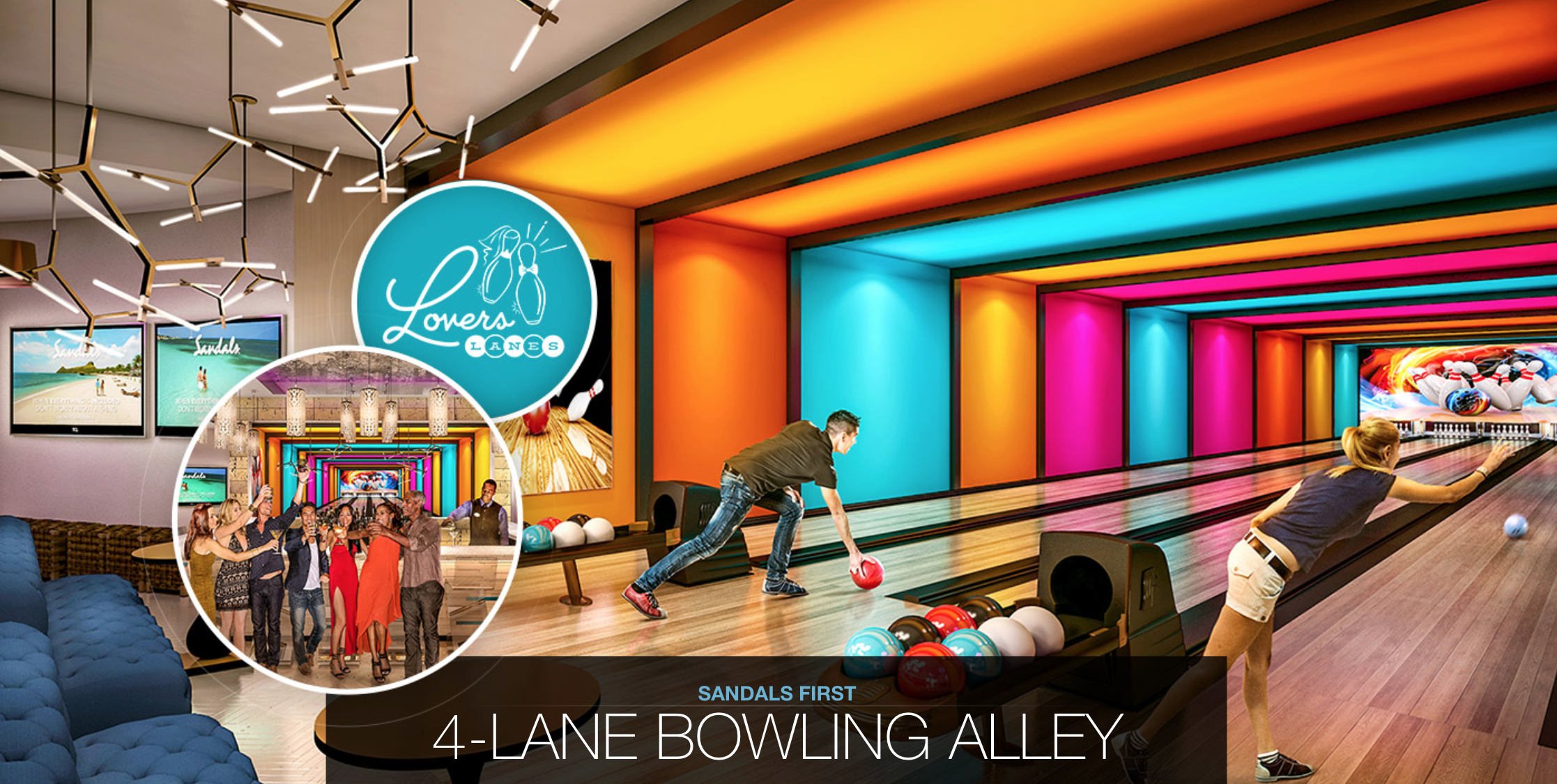 Sandals Royal Barbados Bowling Alley Lovers Lane 187 Best