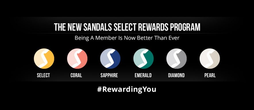 sandals select rewards