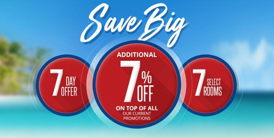 Sandals Resorts 7 Percent Sale