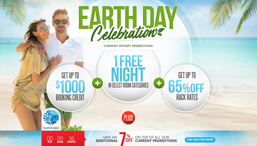 Sandals Resorts Earth Day Sale