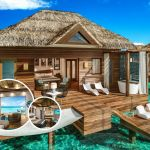 Over water bungalows Sandals St Lucia